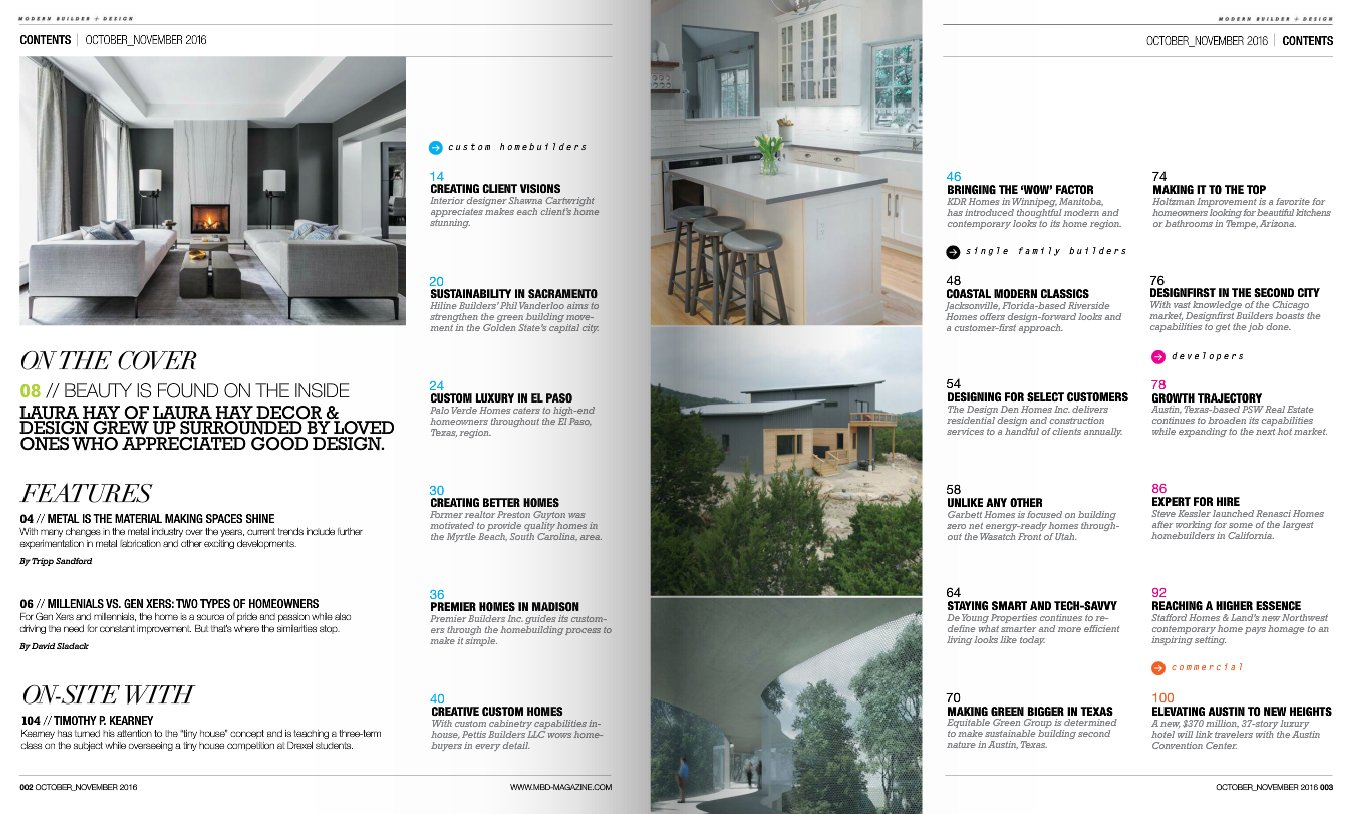 Digital Edition of Modern Builder and Design