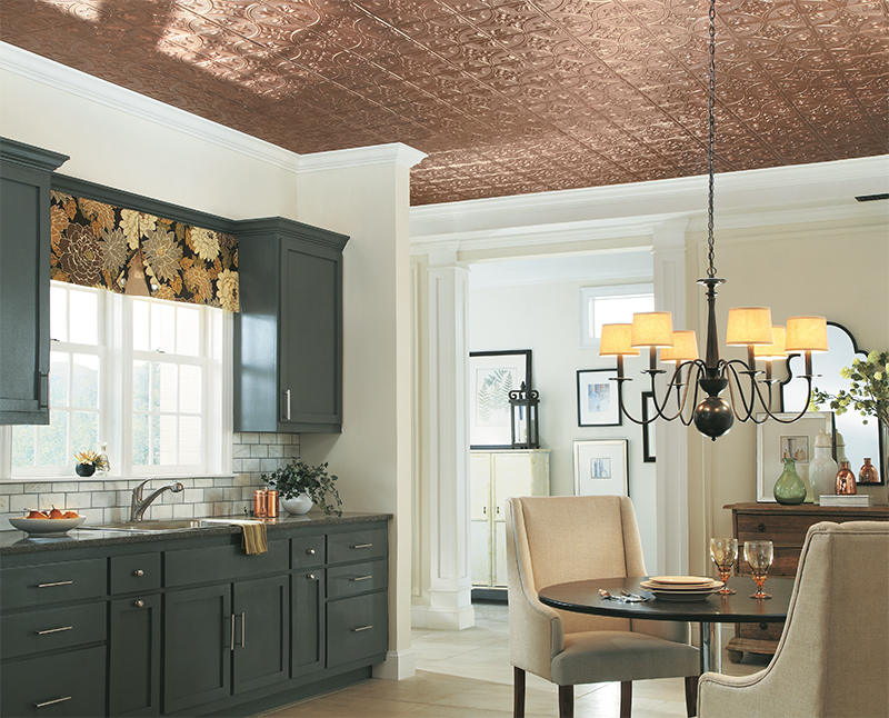 DECORATIVE CEILINGS ARE AMONG THE TOP REMODELING TRENDS FOR 2015 OFFERED BY INTERIOR EXPERTS.